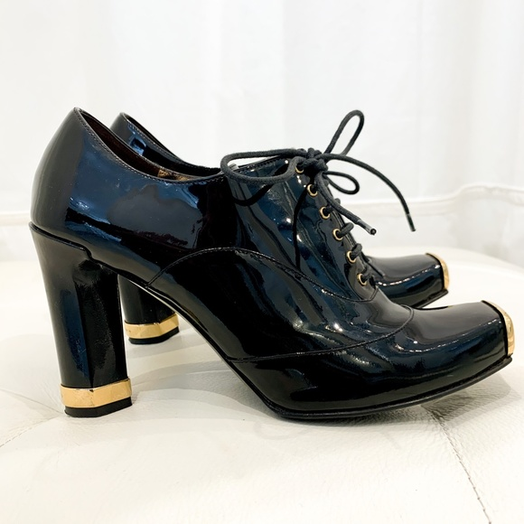 Dolce & Gabbana Oxford Booties Patent Leather